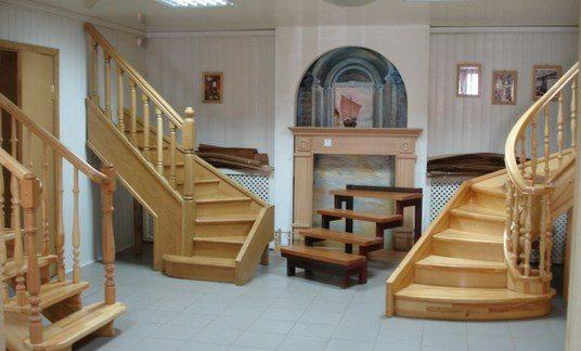 фото лестницы из дерева