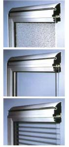 Примеры остекления: стекло, акриловые бусины, о кристаллической структуре, двойное стекло из акрила для ворот, утепленный, двойные стекла ребристые с polikarbonatu – также утепленных ворот (фото
