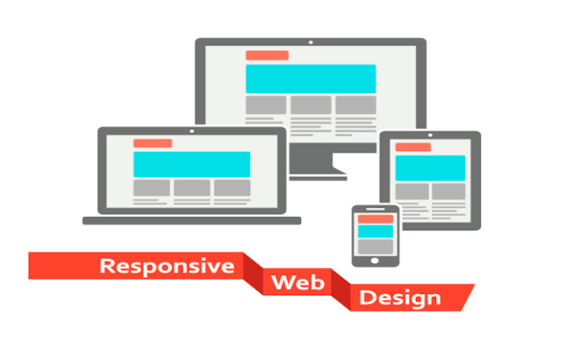 Пример различного внешнего вида сайта в зависимости от устройства, на котором отображается.