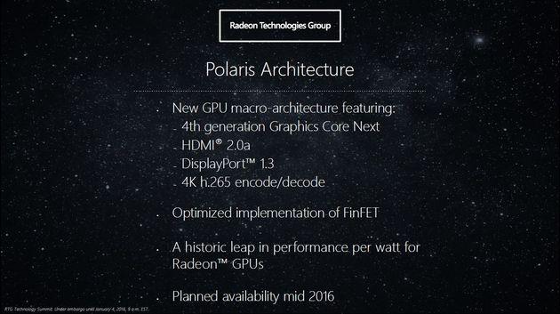 Основные детали архитектуры GCN Polaris