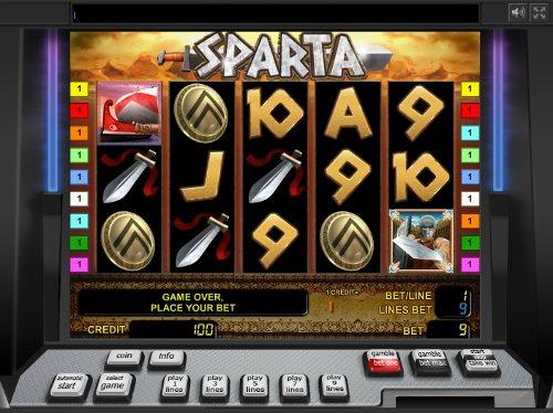 Азартная игра спартанцы, играть онлайн