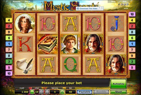 игровое поле автомата Mystic Secrets