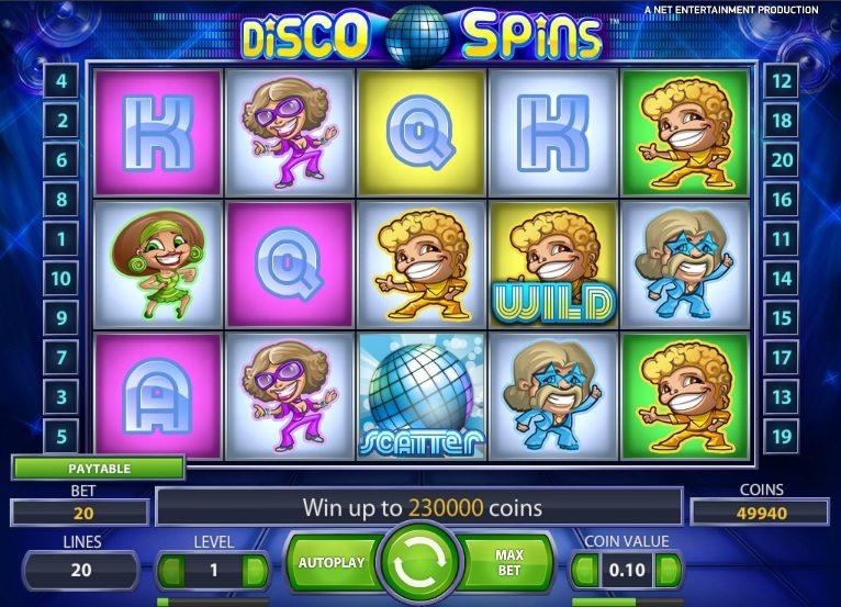 Disco Spins онлайн игра