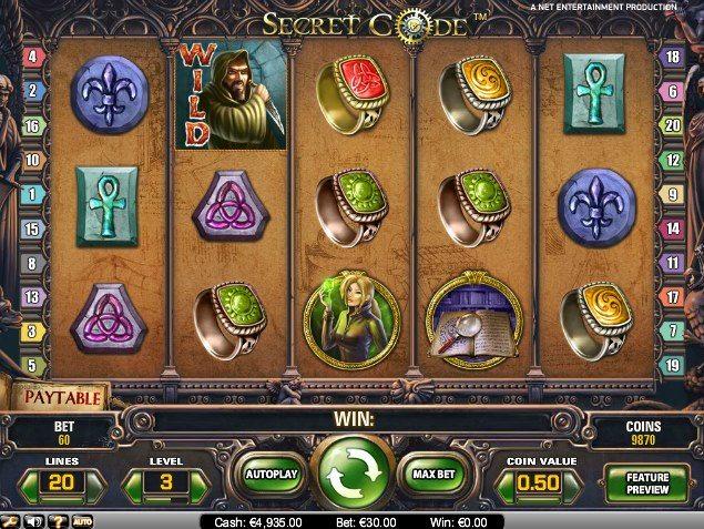 онлайн игра secret code slot