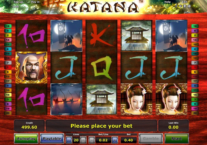 Фото азартной игры Katana