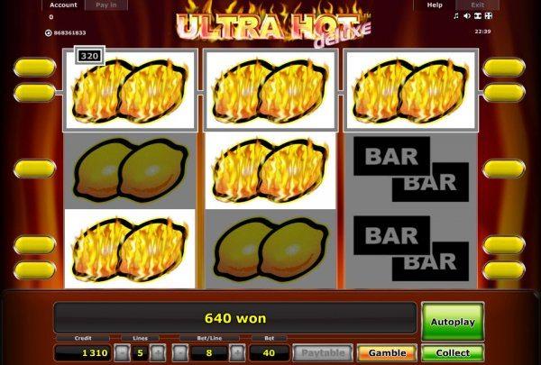 ultra hot slot machine фото