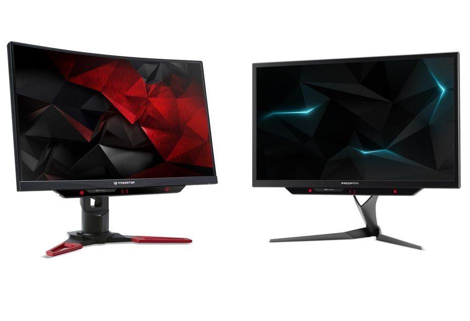 Acer представил два монитора для игроков - Predator X27 с HDR и изогнутый Z271UV