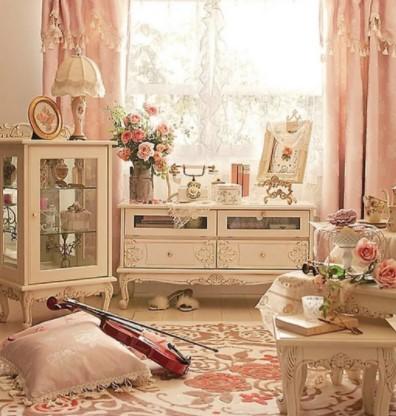 корпусная мебель для гостиной в стиле шебби шик фото