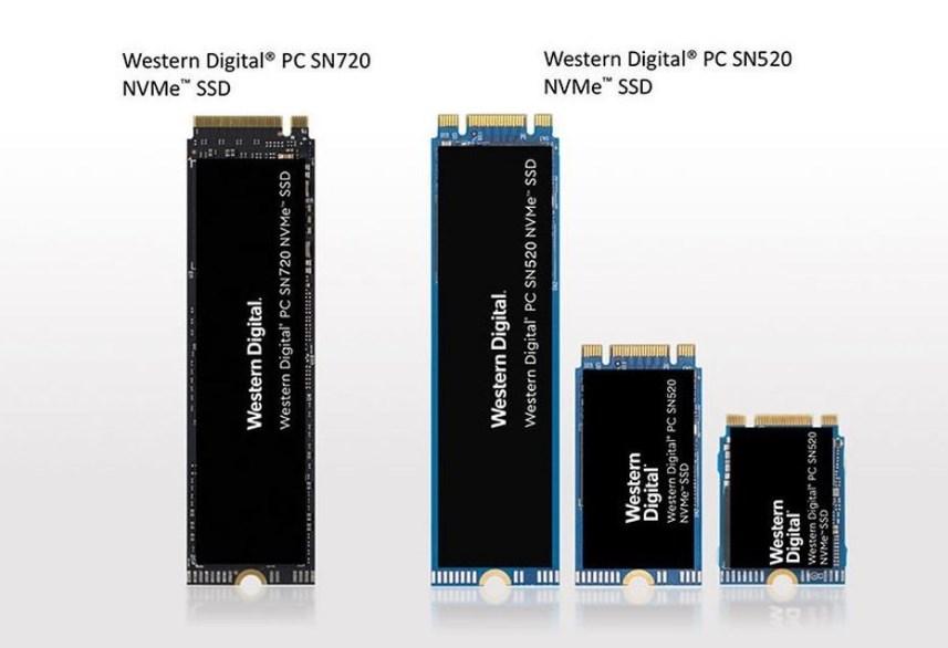 Western Digital представляет новые носители PC SN720 и PC SN520