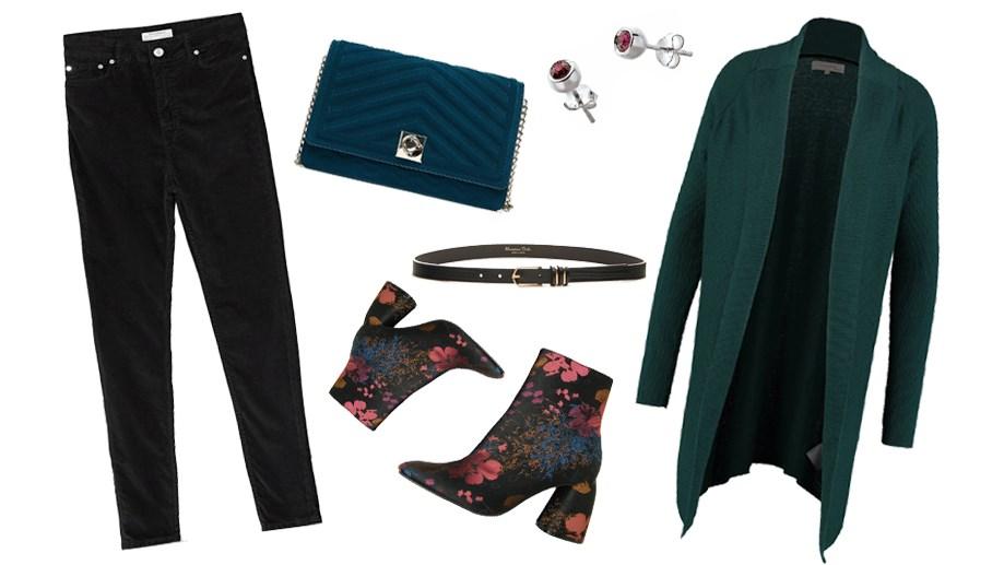 модные ботильоны с цветочным принтом