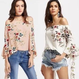 испанские Блузки с открытыми плечами с вышивкой