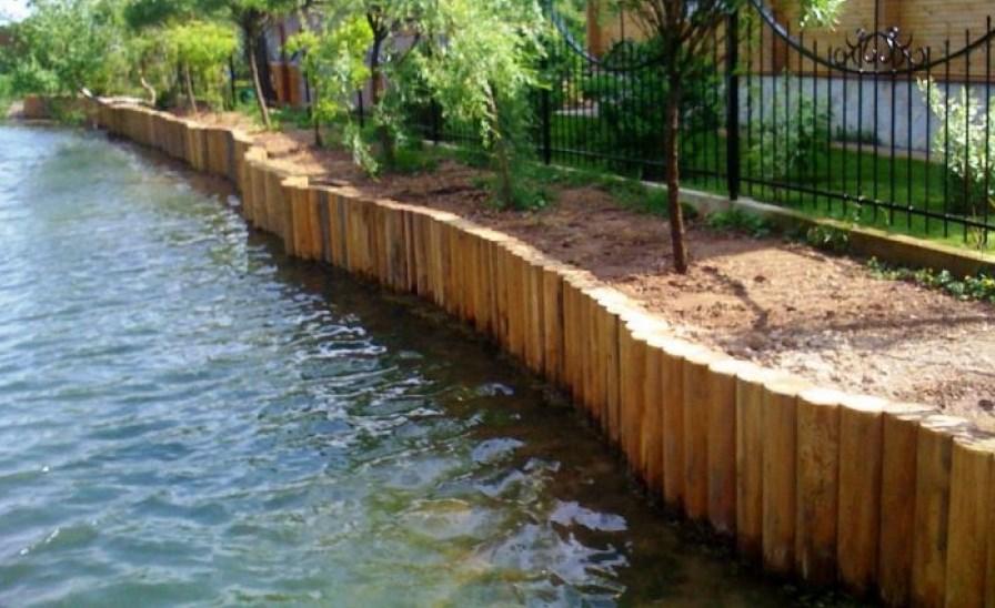 Укрепление берега рек, озер и других водоемов