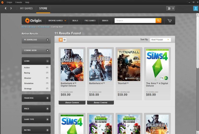 Origin - приложение для игр от Electronic Arts