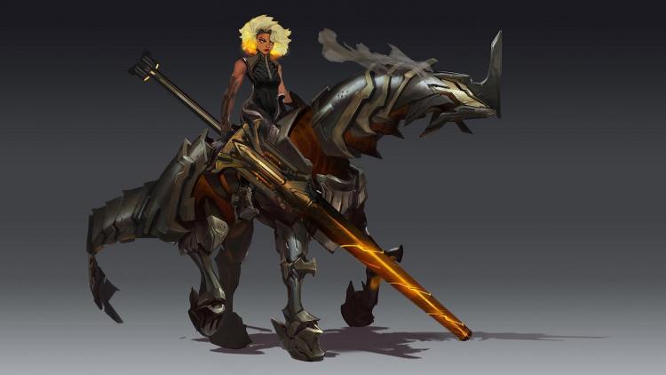 Стальная всадница Релл - новый чемпион League of Legends