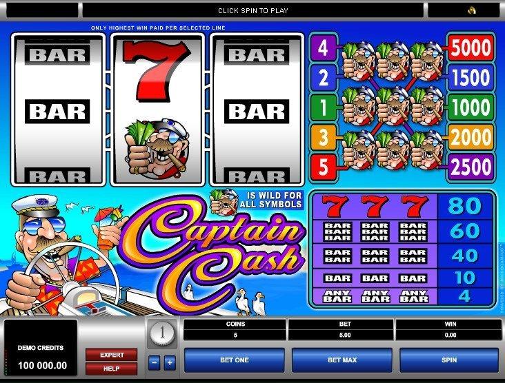 слот Captain Cash