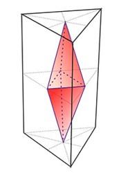 Двоїстим многогранником прямої призми є Біпірамід.