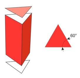 Основи призми є рівними правильними трикутниками.