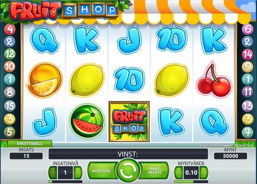 Основные возможности автомата Fruit Shop