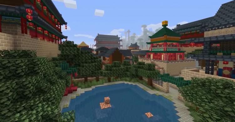 В честь наступающего китайского Нового года в Minecraft добавили тематический контент - набор скинов и карта с храмами