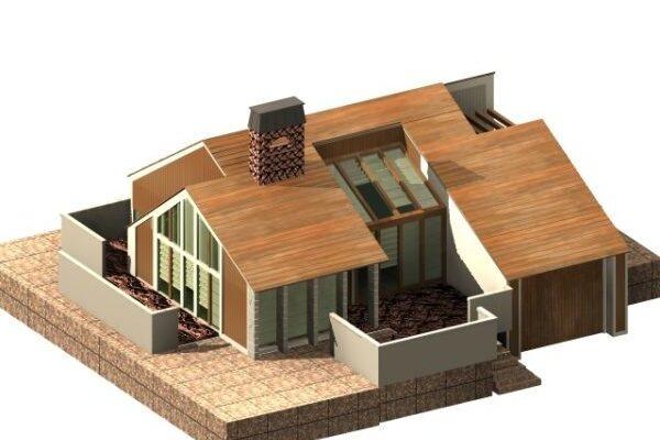 3D модели зданий и домов