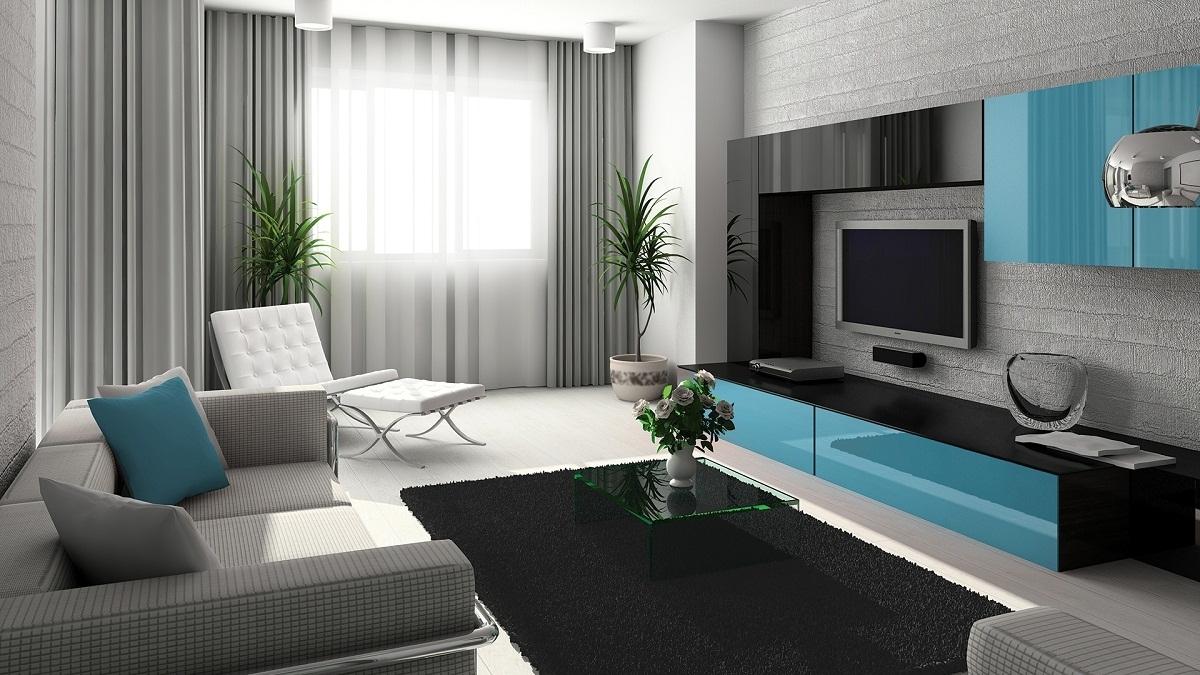 Дизайн квартиры серого цвета